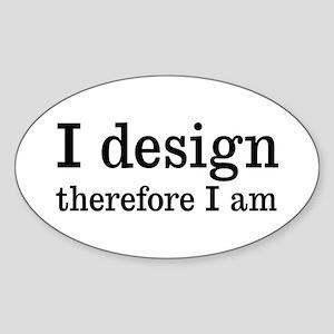 I Design Oval Sticker