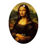 Mona Lisa makeover Oval Ornament