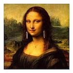 Mona Lisa makeover Square Car Magnet 3