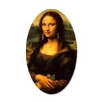Mona Lisa Makeover Sticker 20x12 Oval Wall Decal