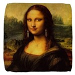Mona Lisa makeover Cube Ottoman