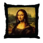 Mona Lisa makeover Throw Pillow