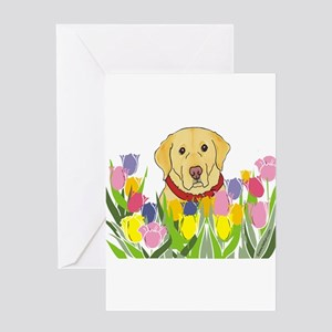 Yellow Lab Greeting Cards