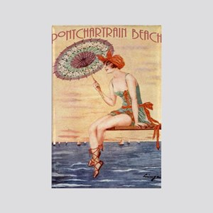 Pontchartrain Beach Poster 2 Rectangle Magnet