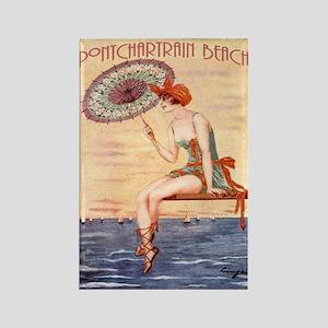 Pontchartrain Beach Poster 2 Rectangle Magnet