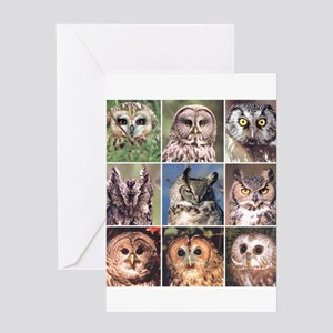 NineOwls02 Greeting Cards