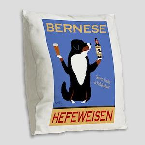 Bernese Hefeweisen Burlap Throw Pillow