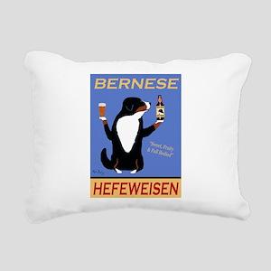 Bernese Hefeweisen Rectangular Canvas Pillow