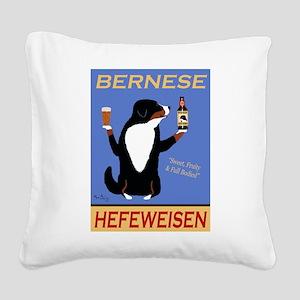 Bernese Hefeweisen Square Canvas Pillow