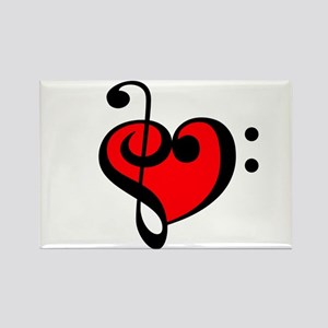 Music Heart Rectangle Magnet