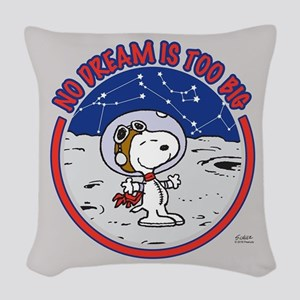 Peanuts No Dream Is Too Big Woven Throw Pillow