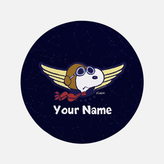 Snoopy Ace Personalized Button