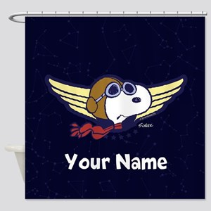 Snoopy Ace Personalized Shower Curtain