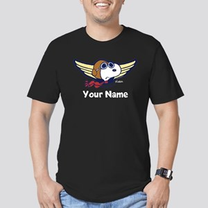 Snoopy Ace Personalize Men's Fitted T-Shirt (dark)