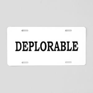 DEPLORABLE Aluminum License Plate