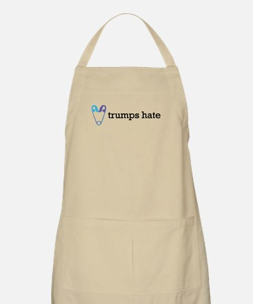 Love Trumps Hate with Safety Pin Heart Apron