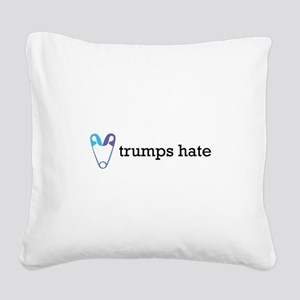 Love Trumps Hate with Safety Square Canvas Pillow