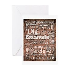 Archaeology Greeting Card