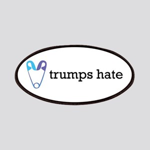 Love Trumps Hate with Safety Pin Heart Patch