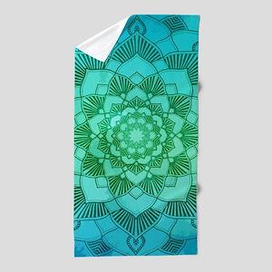 Lotus Eternity Mandala Beach Towel