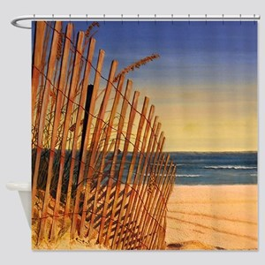 Tranquil Beach Scene Shower Curtain