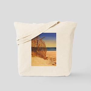 Tranquil Beach Scene Tote Bag