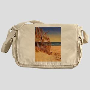 Tranquil Beach Scene Messenger Bag