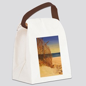 Tranquil Beach Scene Canvas Lunch Bag