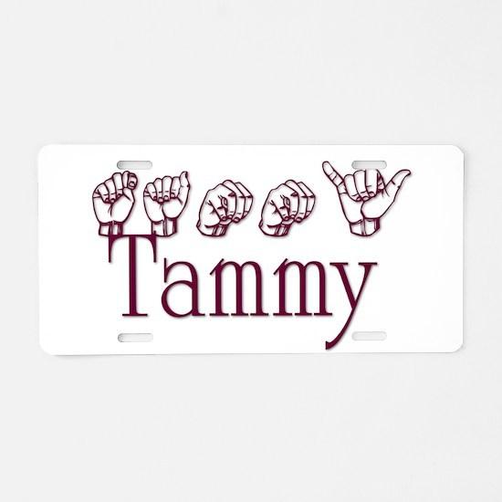 Tammy Aluminum License Plate