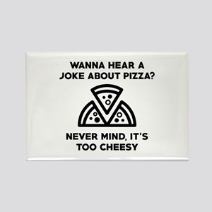 Pizza Joke Rectangle Magnet
