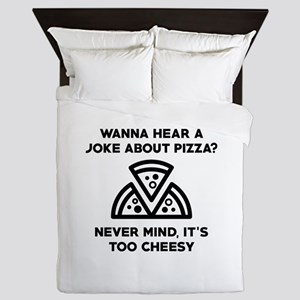 Pizza Joke Queen Duvet