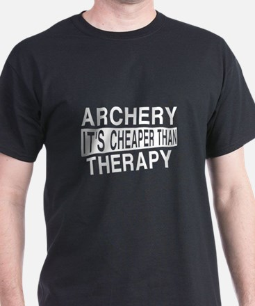 Archery It Is Cheaper Than Therapy T-Shirt