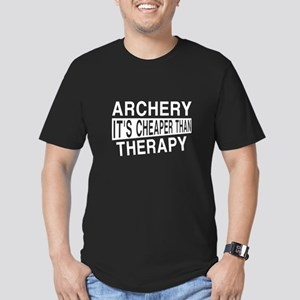 Archery It Is Cheaper Men's Fitted T-Shirt (dark)