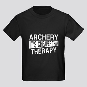 Archery It Is Cheaper Than Thera Kids Dark T-Shirt