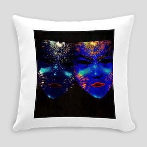 Blacklight Drama Masks Everyday Pillow