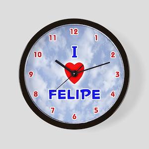 I Love Felipe (Red/Bl) Valentine Wall Clock