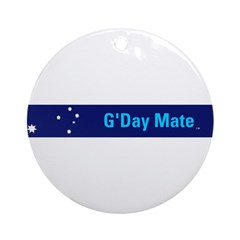 G'Day Mate Round Ornament