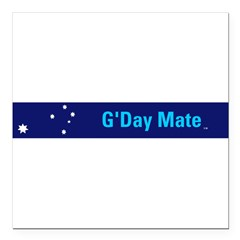 G'Day Mate Square Car Magnet 3