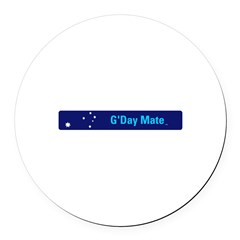G'Day Mate Round Car Magnet