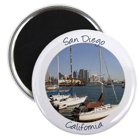 San Diego California Sailboat in the city Magnet