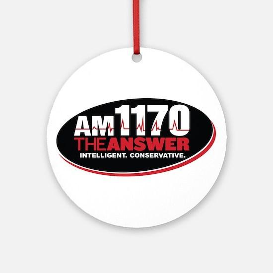 AM 1170 The Answer KCBQ logo Round Ornament