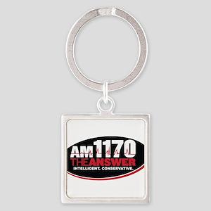 AM 1170 The Answer KCBQ logo Keychains