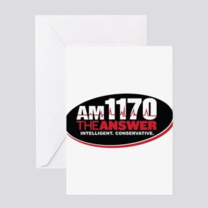 AM 1170 The Answer KCBQ logo Greeting Cards
