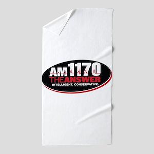 AM 1170 The Answer KCBQ logo Beach Towel