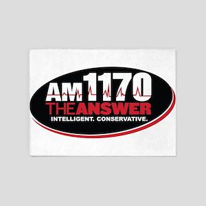 AM 1170 The Answer KCBQ logo 5'x7'Area Rug