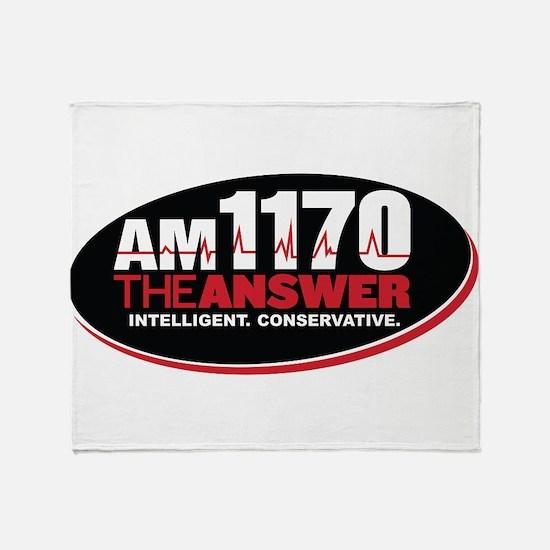 AM 1170 The Answer KCBQ logo Throw Blanket