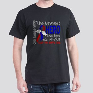 -CHD Bravest Hero I Ever Knew D T-Shirt