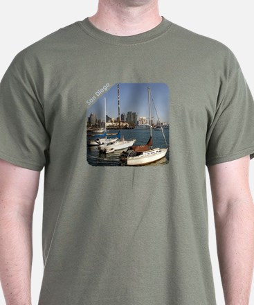 San Diego Sailboats in the City Mens T-Shirt