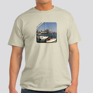 San Diego Sailboats in the City Light T-Shirt