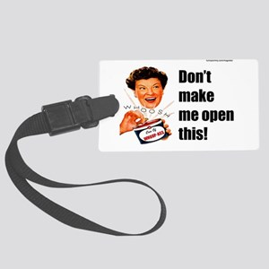 Can Of Whoop Ass Large Luggage Tag